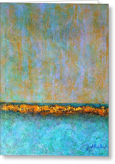 Greeting Card featuring the painting Horizontal Reef by Jim Whalen
