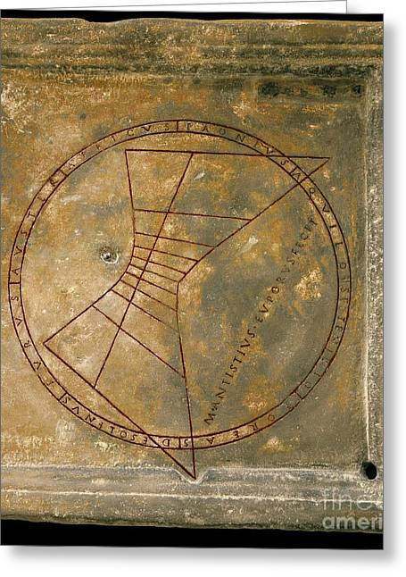 Horizontal Sundial With Wind Rose Greeting Card by Sheila Terry