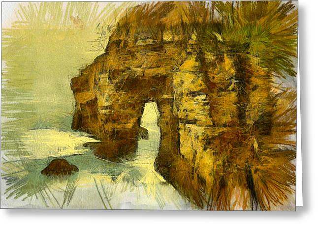 Horn Head Temple Arch Greeting Card by Unknown