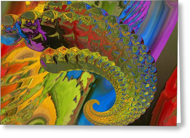 Horn Greeting Card by Soumya Bouchachi