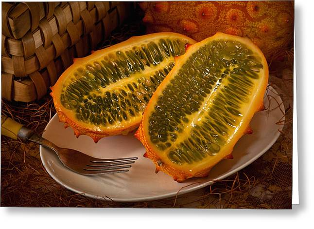 Horned Melon0541 Greeting Card