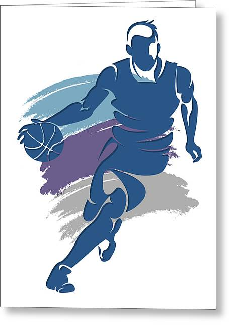 Hornets Basketball Player1 Greeting Card