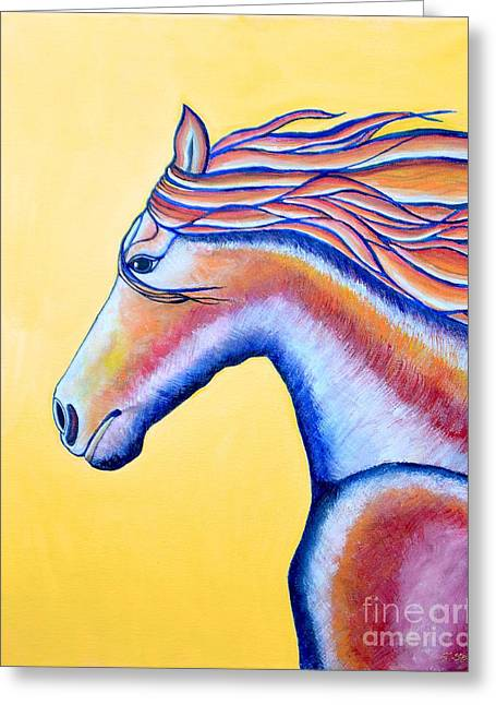 Greeting Card featuring the painting Horse 1 by Joseph J Stevens