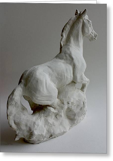 Horse 2 Greeting Card by Derrick Higgins