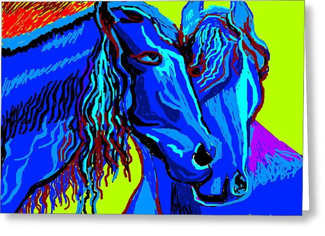 Horse-7 Greeting Card by Anand Swaroop Manchiraju