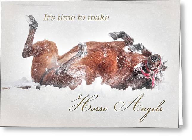 Horse Angels Greeting Card by Lori Deiter