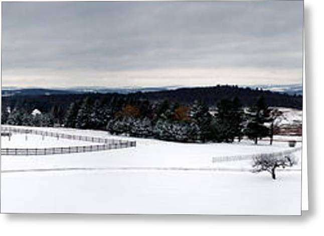Horse Barn In The Winter Greeting Card