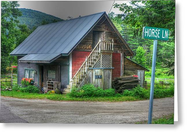 Horse Barn Greeting Card by John Nielsen