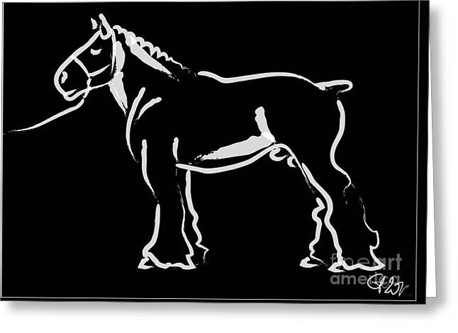 Horse - Big Fella Greeting Card