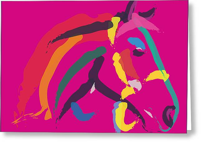 Horse - Colour Me Strong Greeting Card