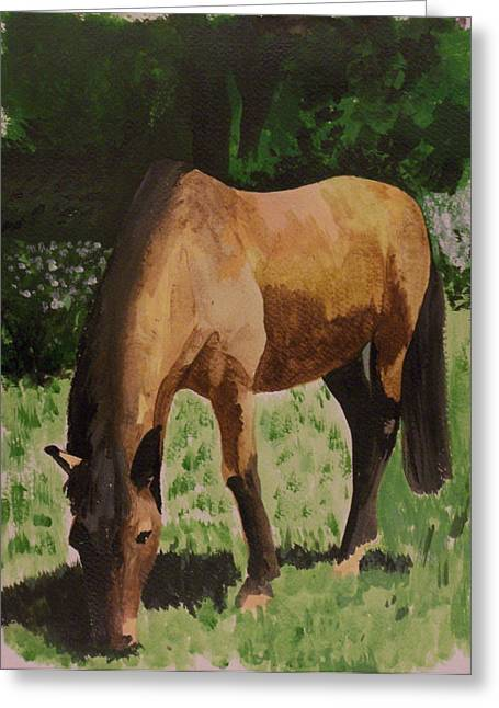 Horse Greeting Card by Isabella F Abbie Shores FRSA