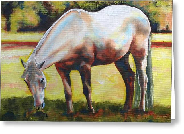 Horse Grazing In The Shade Greeting Card