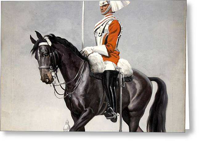 Horse Guards Parade 1939-1946 Vintage Poster Greeting Card by R Muirhead Art