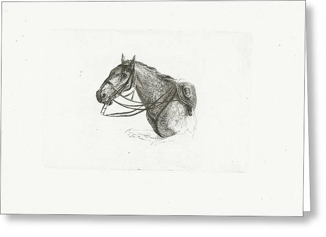 Horse Head, Left, Joannes Bemme Greeting Card by Joannes Bemme And Dirk Langendijk