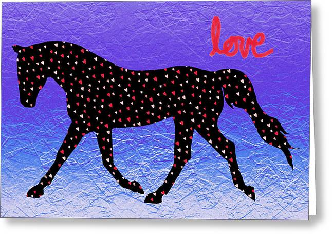 Horse Hearts And Love Greeting Card