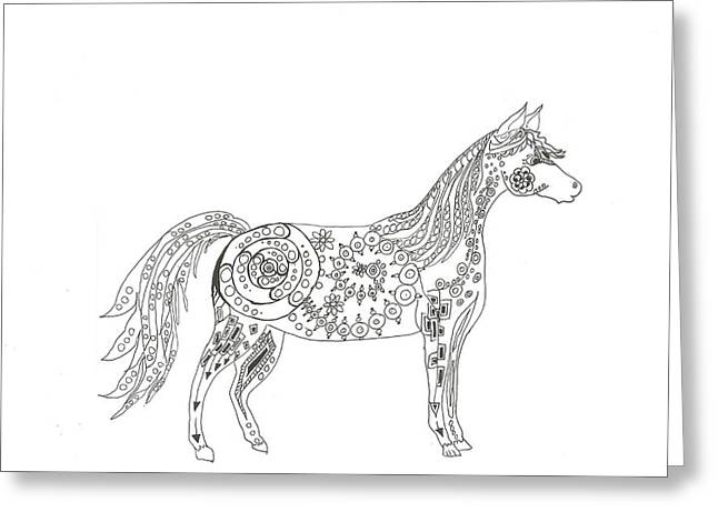 Horse  Greeting Card by Heather  Stirnweis