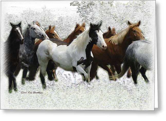 Horse Herd #3 Greeting Card