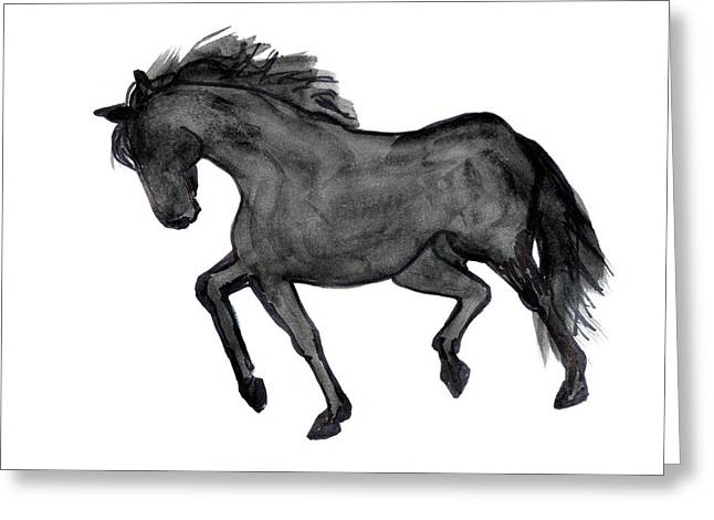 Horse Ill Greeting Card by Nancy Mauerman