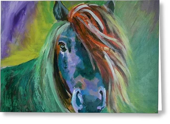 Horse Greeting Card by Jolanta Shiloni