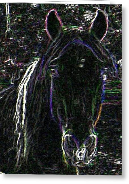 Horse Love Greeting Card by Chasity Johnson