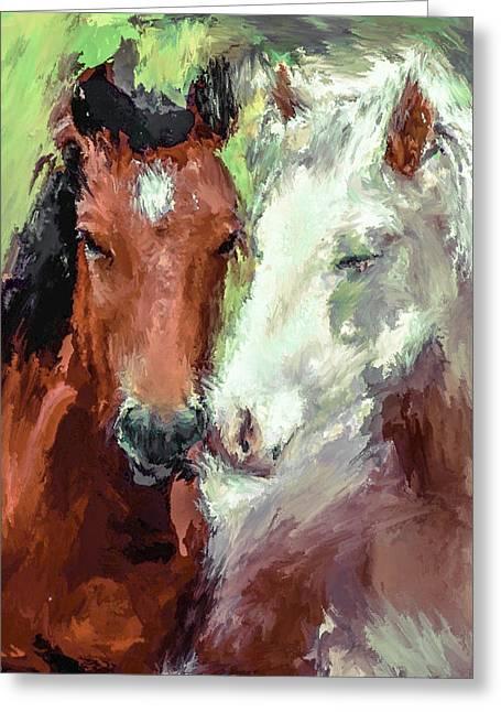 Horse Love Greeting Card