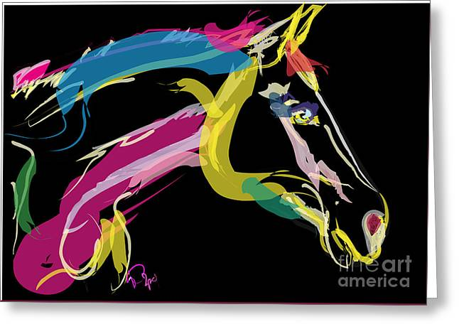 Horse- Lovely Colours Greeting Card by Go Van Kampen