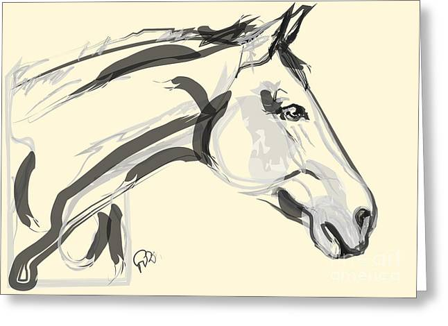 Greeting Card featuring the painting Horse - Lovely by Go Van Kampen