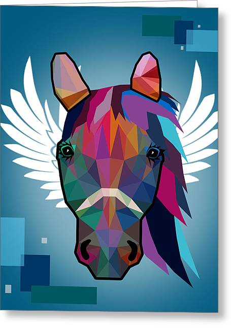 Horse  Greeting Card by Mark Ashkenazi