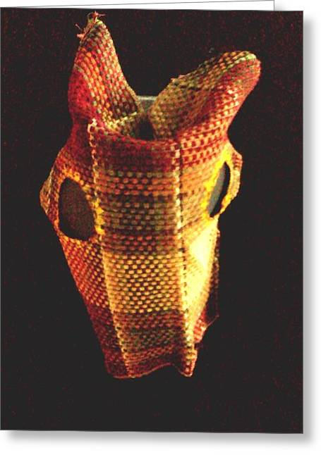 Native American Horse Mask Greeting Card by Stacy C Bottoms