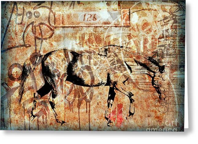 Horse One Twenty Six Greeting Card by Judy Wood