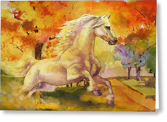 Horse Paintings 003 Greeting Card by Catf