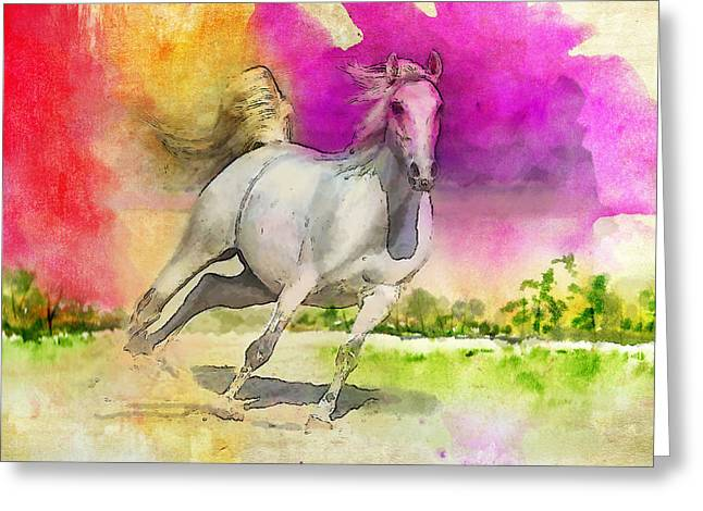 Horse Paintings 007 Greeting Card by Catf