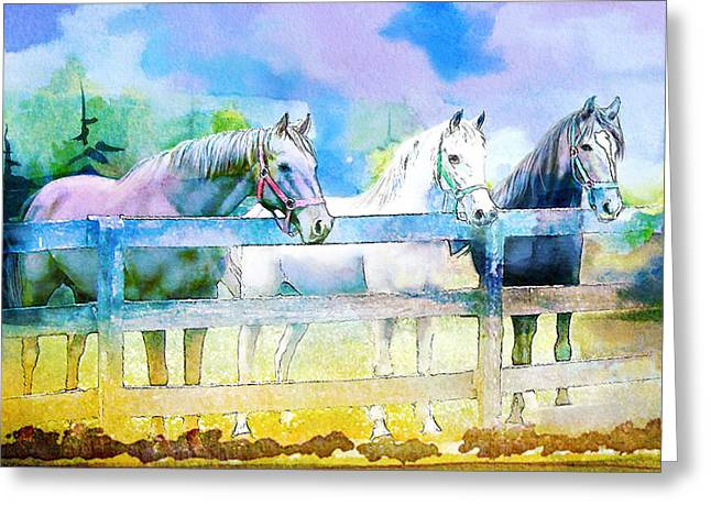Horse Paintings 008 Greeting Card by Catf