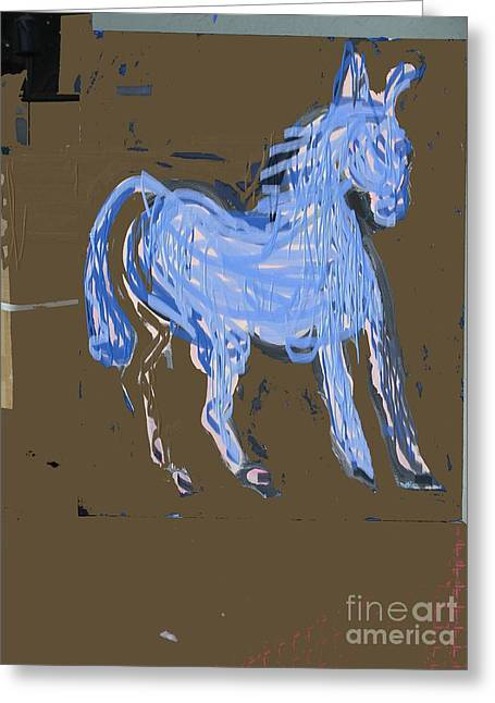 Horse Revisited Greeting Card by Jay Manne-Crusoe