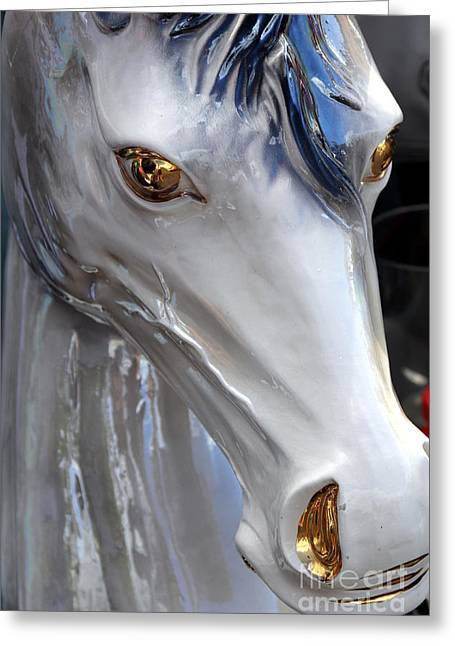 Horse Ride Greeting Card by Sophie Vigneault