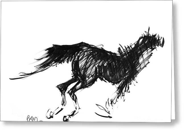 Horse Running Left Greeting Card
