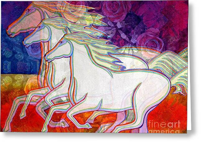 Horse Spirits Running Greeting Card
