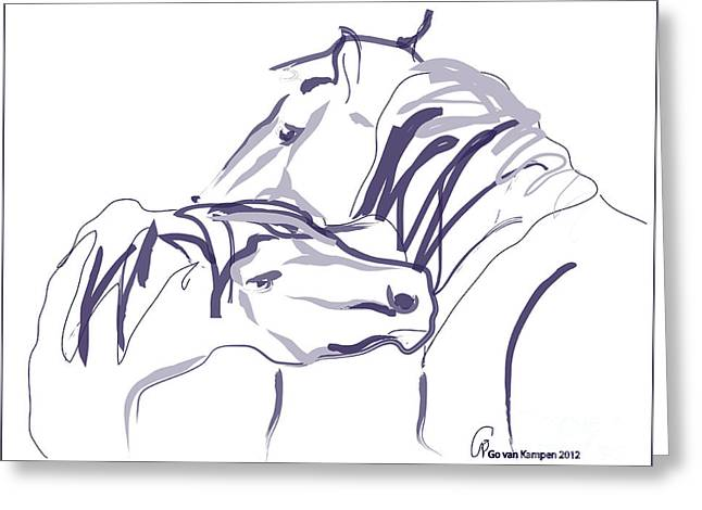 Horse - Together 10 Greeting Card