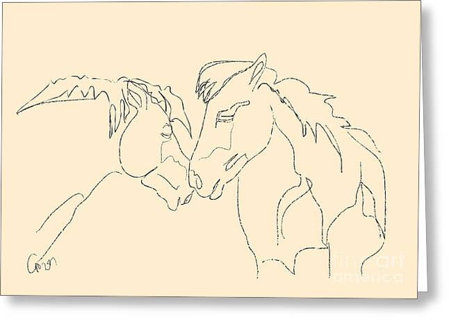 Horse - Together 3 Greeting Card