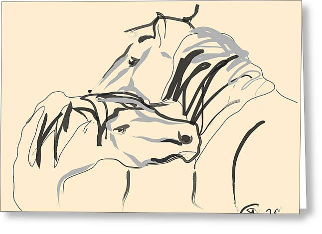 Horse - Together 4 Greeting Card