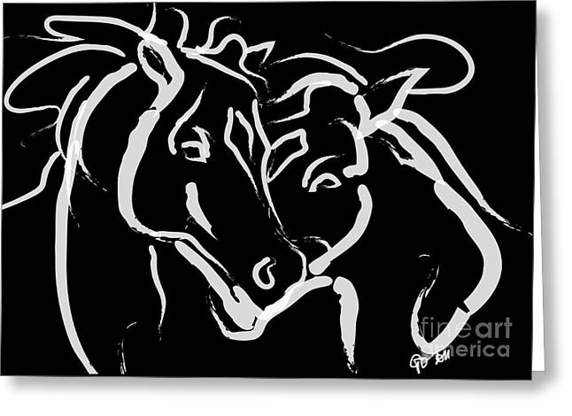 Horse- Together 5 Greeting Card
