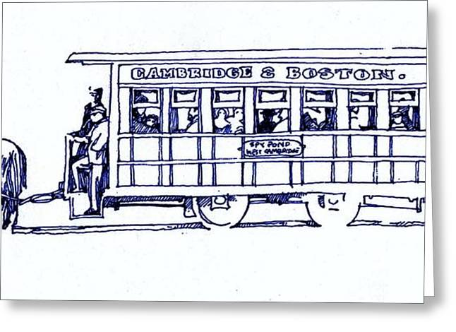 Horse Trolly  Greeting Card by Dale Michels