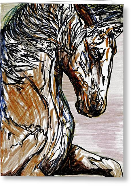 Horse Twins I Greeting Card