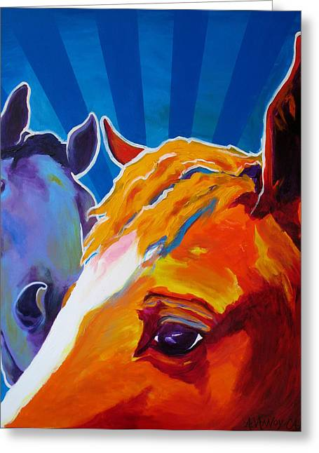 Horse - We Come In Peace Greeting Card by Alicia VanNoy Call