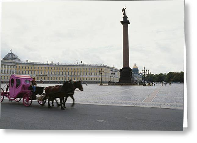 Horsedrawn Carriage In Front Greeting Card
