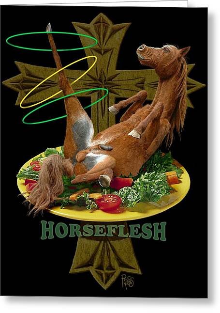 Horseflesh Greeting Card by Scott Ross