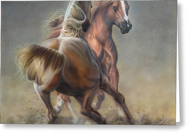 Horseplay Greeting Card