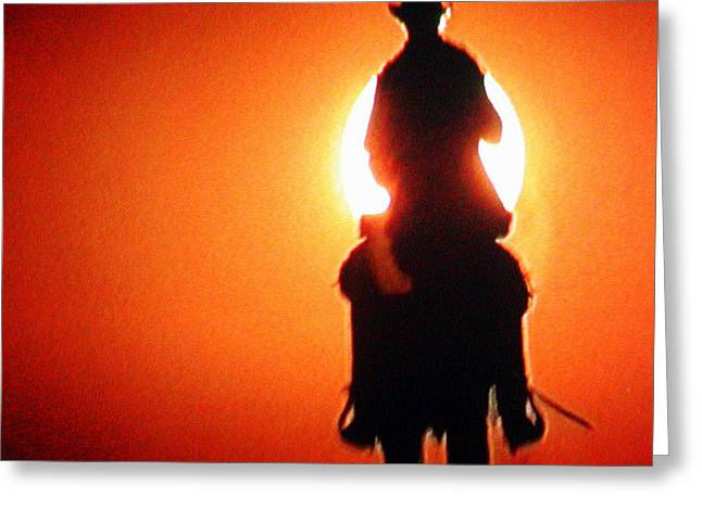 Horserider With Out A Name Greeting Card by Colette V Hera  Guggenheim