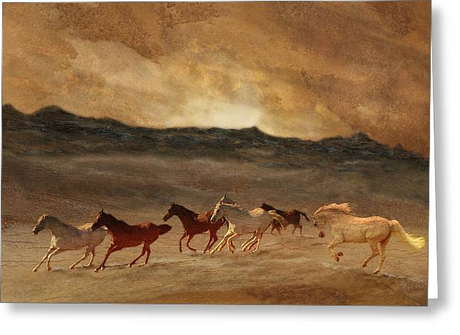 Horses Of Stone Greeting Card