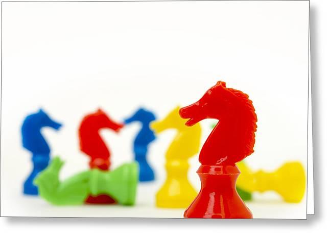 Horses Representation Greeting Card by Bernard Jaubert